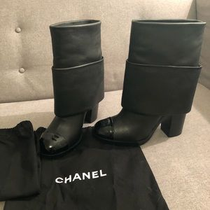 CHANEL FOLD OVER BOOTIES